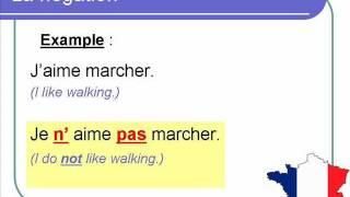 how to make french negative sentences