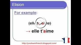 French Lesson 134 - Elision In French - Contractions