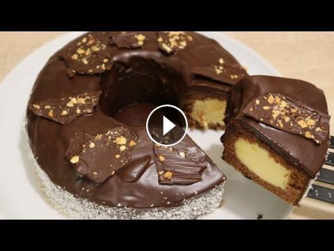 Gateau D Anniversaire Au Chocolat Et Creme Patissiere Facile