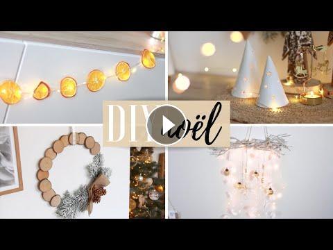 4 Diy Déco Pour Noël Couronne Guirlande Photophore